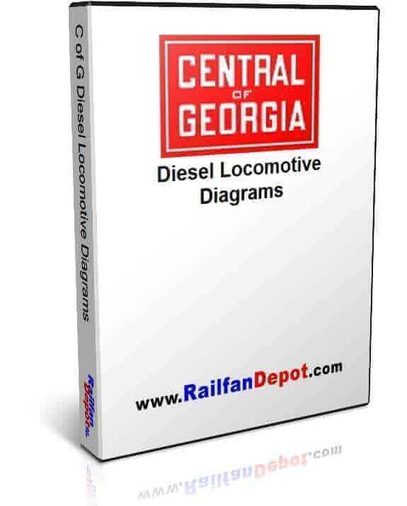 Central of Georgia Diesel Locomotive Diagrams
